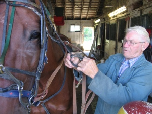 Jimmy Smith, 80, with his horse, Dr. Decimeter