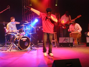 Saa Andrew, performing for the SHOUT kickoff last year, at the Centre Communitaire du Saint Anne